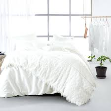 white king size duvet cover ikea 4pcs solid white duvet cover set applique queen king bedding