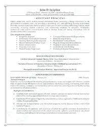 Vice Principal Resume Assistant Principal Resume High School Resume Amazing Assistant Principal Resume