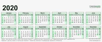 2020 Year At A Glance Calendar Template 2020 Calendar Resolution Year At A Glance Calendar 2019