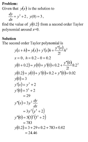 taylor polynomial approximation of solving ordinary diffeial equations you can visit the above example by opening a pdf or
