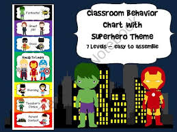 Superhero Behavior Chart From Book Fairies And Garden Gnomes