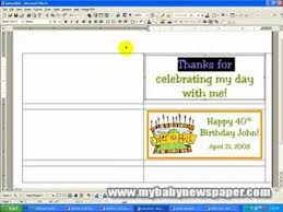 Creating Candy Bar Wrappers Using Ms Word