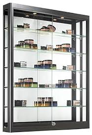 Image Round Wooden Wall Wall Case Is Black Retail Shadow Box Ebay This Display Cabinet Features Two Zbar Mounting Accessories For