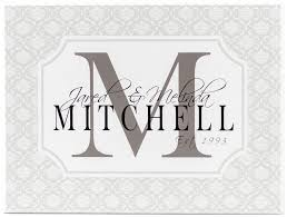 white wooden monogram sign with gray damask border charcoal monogram letter black block personalized