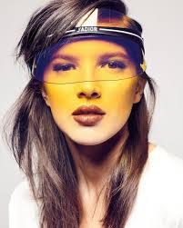 Ladies Designer Sun Visors Christian Dior Diorclub1 Transparent Logo Sun Visor