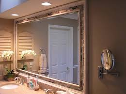 framed bathroom mirrors double delighful double framing a bathroom mirror ideas double l shaped brown