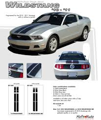 2012 Mustang Color Chart Mustang Wildstang 2010 2011 2012 Ford Mustang Lemans Style Racing Stripes Kit
