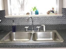 Tin Backsplashes For Kitchens Installing Faux Tin Backsplash Home Design And Decor
