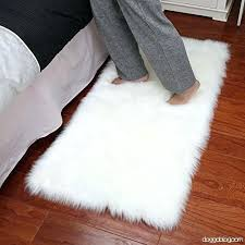 luxury plush sheepskin area rug fluffy fur carpet x ivory white faux canada large sheepskin area rug
