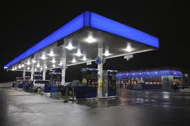 gas station canopy lighting levels lilianduval