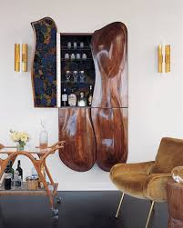 unique bar furniture. Designs Ideas:Home Decor With Unique Bar Cart Near Hiddern Wine Shelves And Chair Furniture T