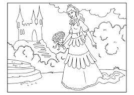 Elsa Kleurplaat Kasteel Malvorlage Prinzessin Mit Blumen Ausmalbild