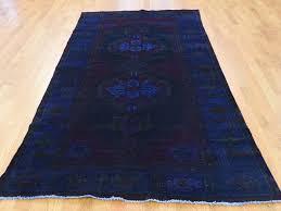hand knotted vintage overdyed persian bakhtiari worn oriental rug