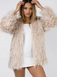 Details About Princess Polly Stone Fox Faux Fur Coat Revolve Asos Anthropologie Nwt Small