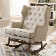 Rocking Chair Modern studio iona midcentury modern wingback rocking chair 8013 by uwakikaiketsu.us
