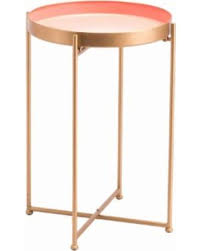 tall end tables. Red Tall End Table Pink - Zuo Modern A11513 Tables