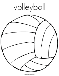 Small Picture volleyball Coloring Page Twisty Noodle