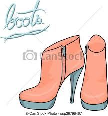 fashion boots drawing. pastel modern boots, fashion shoes cartoon vector - csp36796467 boots drawing