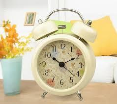 antique alarm clock classic small round silent desk table alarm clocks with backlight non ticking quartz