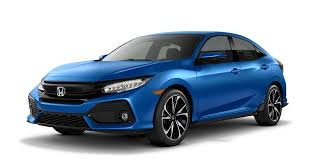 2017 Honda Civic Hatchback Blue Exterior Model  E