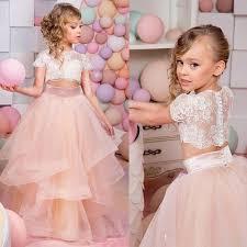<b>2019 Vestidos Primera Comunion</b> Two Piece Ball Gown Flower Girl ...