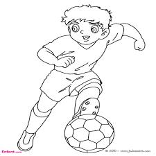 Coloriages Pour Gar On Le Football Appartenant Jeux De