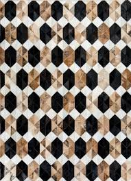 Geometric Rugs with 2D 3D Pattern in Black White