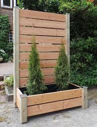 Pflanzkasten Holz Ecke Mit Sichtschutz