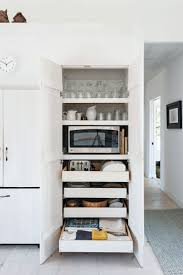 Slide Out Kitchen Pantry Drawers: Inspiration. Hidden MicrowaveMicrowave  StorageHidden ...