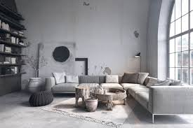 modern rustic interior design. Peeping Out From Beneath The Sofa In Rustic Living Room, An Area Rug Lays At Interesting Angle That Invites You To Come And Sit Down, Modern Interior Design