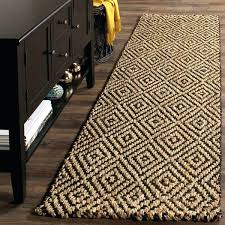 Q Braided Jute Runner Rug 3 Foot Wide Rugs Natural Fiber Diamond Weave  Handmade Black Interior Doors Near Me Discount Furniture