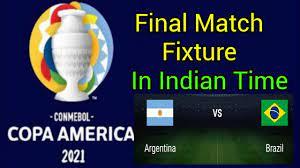 Copa America 2021 Final Fixture in ...