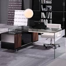 modern glass office desk full. glass and acrylicwalnut cabinet modern executive desk moderndigsfurniturecom office full f