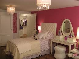 f round white shaded chandelier for bedroom lighting with crystal ornament in pink painted bedroom wall bed lighting fabulous