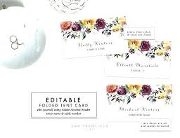 Table Labels Template Super Free Place Card Template Anniversary Microsoft Word