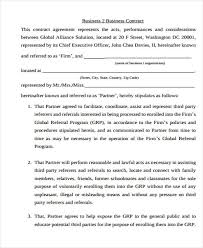 Agreement Templates Business Contract Template 11 Business Agreement Templates Word Docs Free Premium Templates