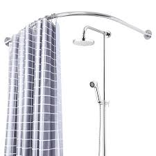 l shaped shower curtain rod rail shower curtain rods punch free l shaped curved rod shower