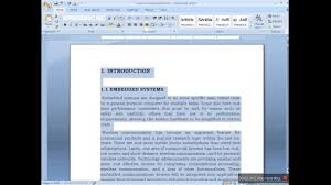 Word Project Preparing Document For Project Report In Ms Word