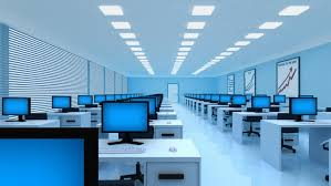 office backdrops. Abstract Office. Camera Moves On Office.3d Animation. - HD Stock Video Clip Office Backdrops S