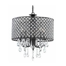 antique black 4 light round crystal chandelier french vintage pendant lamp