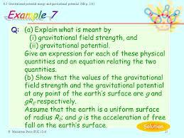 3 gravitational potential energy and gravitational potential sb p