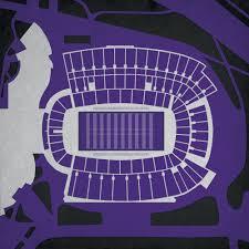 Amon G Carter Stadium Map Art