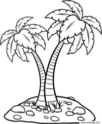 Coloriage Palmier Facile Dessin Dessin De Palmier A Colorier L