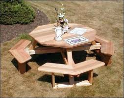 childrens wooden picnic table octagon wood picnic table design ideas for wood picnic table round wooden