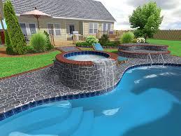 Infinity Pool Backyard Minimalist Interesting Decorating Design