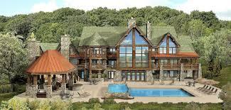 Kensington Lodge  Log Homes Cabins And Log Home Floor Plans Large Log Cabin Floor Plans