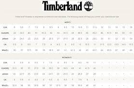 Timberland Women S Shoes Size Chart Timberland 6 Inch Size Chart Bedowntowndaytona Com