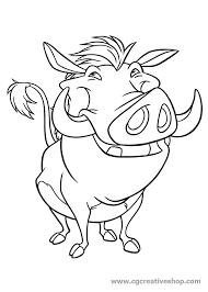 Pumbaa Il Facocero Del Re Leone Disegno Da Colorare