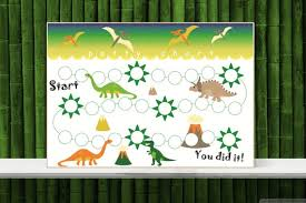 Dinosaur Reward Chart And Stickers Dinosaur Sticker Chart Printable Potty Training Chart Toilet Training Schedule Boys Reward Chart Instant Download A4 And Letter Size