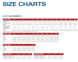 Port Authority Color Chart Size Chart Port Company Port Authority Sport Tek Red
